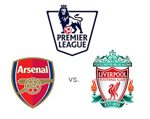 Arsenal vs. Liverpool - 24th round of the Premier League - Team logos - Competition logo