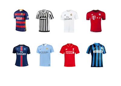 New season home kits - 2015/16 - Barcelona, Real Madrid, Bayern Munich, PSG, Liverpool and AC Milan