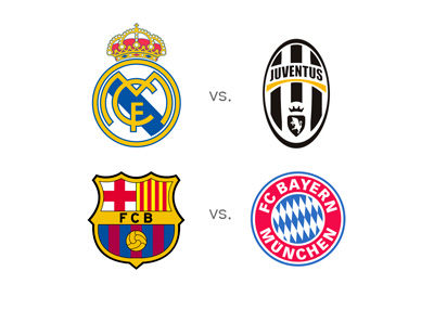 UEFA Champions League semi-finals - Matchups - Barcelona FC vs. Bayern Munich - Real Madrid vs. Juventus - UCL 2014/15