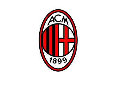 AC Milan - Football Club - Logo - Crest - Badge - 400 pixels wide