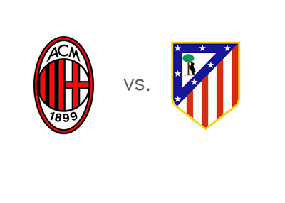 UEFA Champions League - UCL - Matchup - AC Milan vs. Atletico Madrid - Team Logos