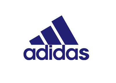 New age Adidas logo in blue colour