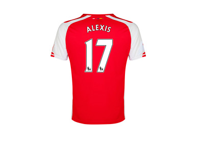 Arsenal FC number 17 - Alexis Sanchez - Jersey back side