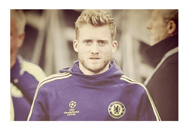 Andre Schurrle in the Chelsea FC UEFA Champions League warm-up suit