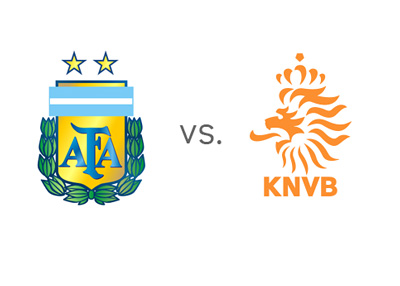 FIFA World Cup Semis - Argentina vs. Netherlands (Holland) - Matchup - Odds - Team Badges / Crests / Logos - Head to Head