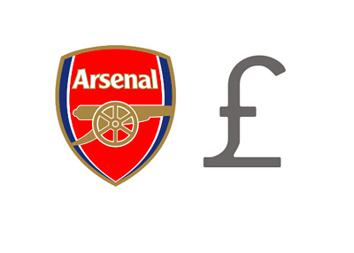 Arsenal Football Club - Finances - Pound Symbol - Illustration / Concept - Club Logo