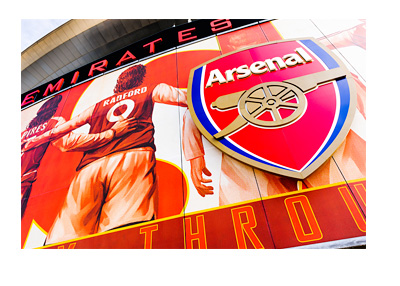 Emirates Stadium - London - Arsenal FC Logo and Illustration - Front Fascia