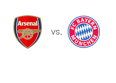 UEFA Champions League Matchup - 2014 - Arsenal vs. Bayern Munich - Team Logos