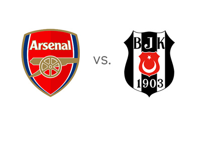 Arsenal FC vs. Besiktas - UEFA Champions League Matchup - Team Logos - Head to Head