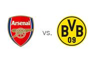 UEFA Champions League Matchup - Arsenal vs. Borussia Dortmund - Team Logos