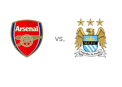 English Premier League Matchup - Arsenal vs. Manchester City - Team Logos / Crests