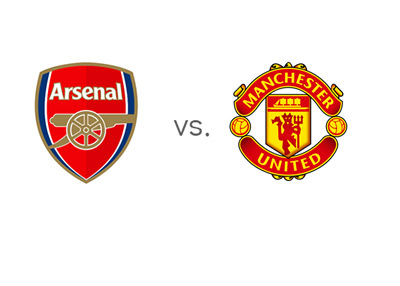 English Premier League (EPL) Matchup - Arsenal vs. Manchester United - Team Logos