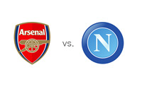 The UEFA Champions League Matchup - Arsenal vs. Napoli - Team Crests