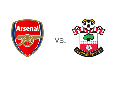 EPL Matchup - Arsenal (The Gunners) vs. Southampton (The Saints) - Team Logos