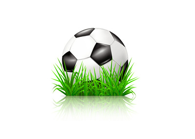 Artificial grass (turf) in the game of football - Illustration