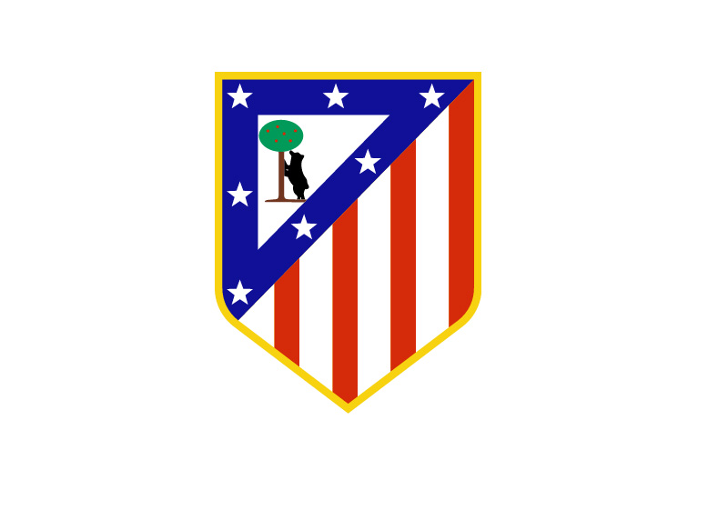 Atletico Madrid - Logo / Badge / Crest - Large Size