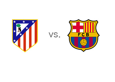 Atletico Madrid vs. Barcelona - Matchup - Team Logos
