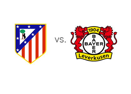 Atletico Madrid vs. Bayer Leverkusen - Game Preview - Odds - Head to Head - Team Logos / Badges / Crests