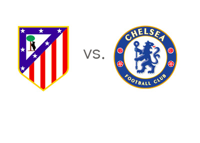 UEFA Champions League Match - Atletico Madrid vs. Chelsea FC - Team Logos / Badges / Crests
