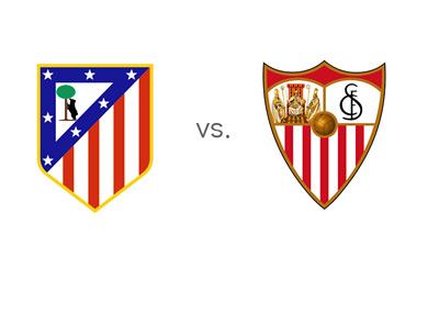Atletico Madrid vs. Sevilla - Football Matchup - Team Logos