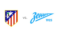 UEFA Champions League Matchup - Atletico Madrid vs. Zenit St. Petersburg - Team Logos / Crests