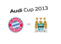 Audi Cup 2013 - Pre-season tournament - Bayern vs. Manchester City - Final - Team and tournament logos