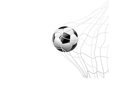 Football in the back of the net - Illustration - Goal