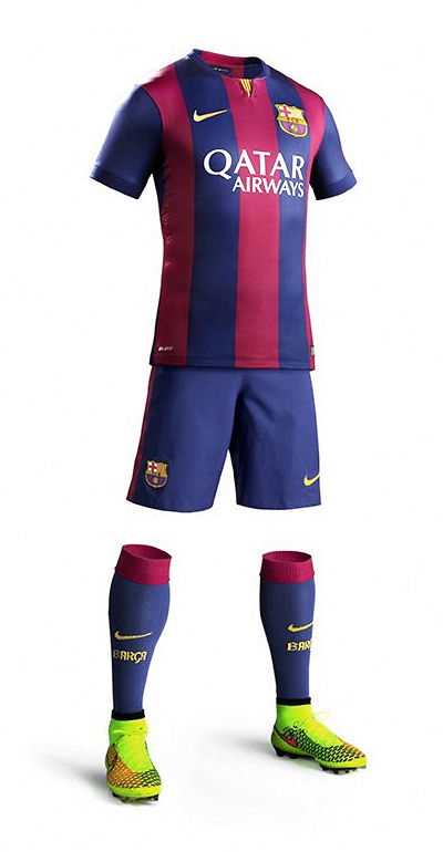 Barca 2014/15 home kit in 3d - by Nike