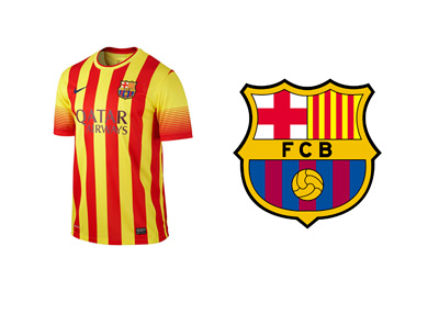 Barcelona Football Club Senyera Strip - Catalan Flag - Independence Support - Jersey - 2014