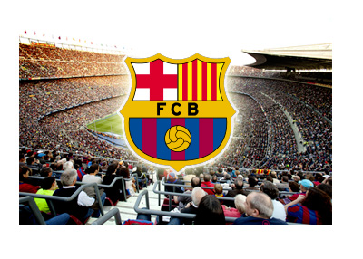 Barcelona FC - Camp Nou - Team Logo - Epic Collage - Full Stadium - Nice Day