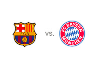 Barcelona vs. Bayern - Matchup and Team Logos