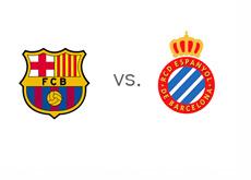 Spanish La Liga Matchup - Barcelona vs. Espanyol - Team Logos