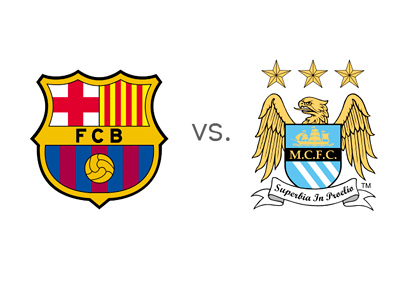 Barcelona FC vs. Manchester City FC - Matchup / Clash - Odds - Preview - Team Logos / Badges / Crests