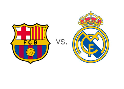 La Liga Matchup - Barcelona vs. Real Madrid - El Clasico - Team Logos