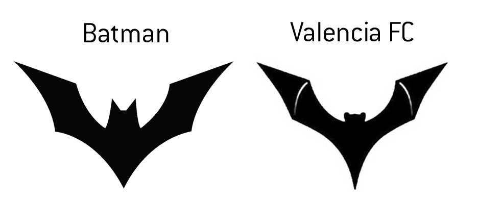 Batman Beyond and Valencia Football Club - Logos - Trademark Dispute