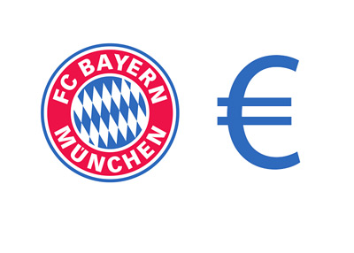 Bayern Munich logo next to the euro sign