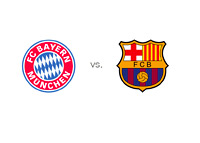 Bayern Munich vs. Barcelona - Team Logos