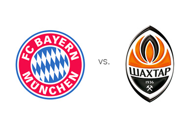 Bayern Munich vs. Shakhtar Donetsk - Matchup - Game Odds - Favourite - Team Logos / Badges / Crests - Head to Head