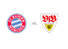 Matchup and Team Logos - Bayern vs. Stuttgart