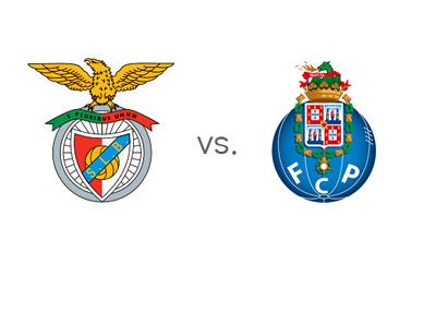 Portuguese Liga Matchup - Benfica vs. Porto - Team Logos