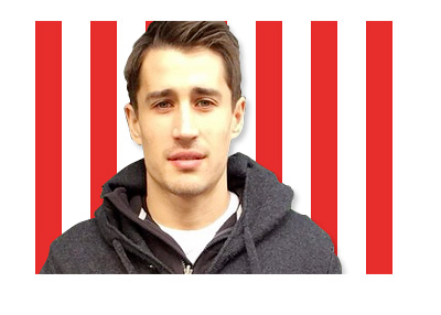Bojan Krkic Instagram Photo - Stoke City FC Colors / Stripes - Montage