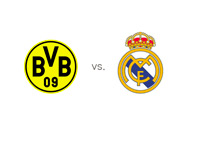 Team Logos and Matchup Stats for Borussia Dortmund and Real Madrid