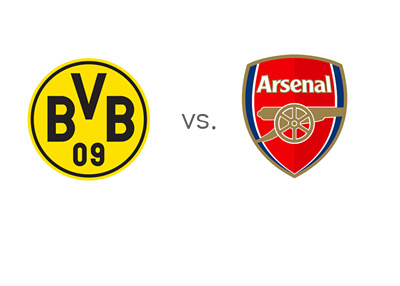 Borussia Dortmund vs. Arsenal - UEFA Champions League Clash - Team Logos