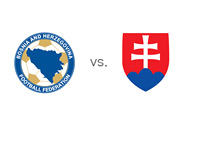 Bosnia-Herzegovina and Slovakia - Matchup and Football Association Logos