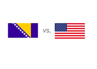 Bosnia and Herzegovina vs. United States of America - Matchup and Country Flags