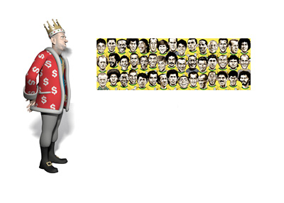 The King presents Brazilian legendary footballers all in one drawing