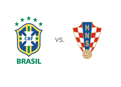 Brazil vs. Croatia - Football Matchup - National Team Crests / Badges / Logos