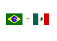 Brazil vs. Mexico - Matchup and Country Flags