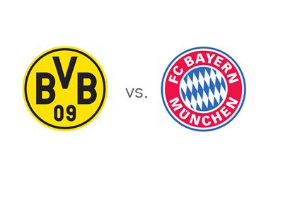 Borussia Dortmund (BVB) vs. Bayern Munich - Team Logos - Matchup