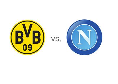 Borussia Dortmund vs. Napoli - UEFA Champions League Matchup - Team Logos